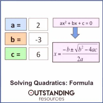 Solving Quadratic Equations 2 - by using the Quadratic Formula (+ resources)