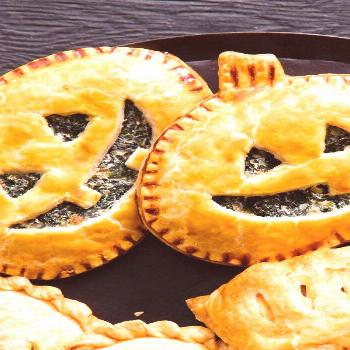 Spinach Jack-O'-Lantern Hand Pies |