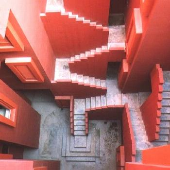 Staircases at La Muralla Roja, Calpe, Alicante, Spain