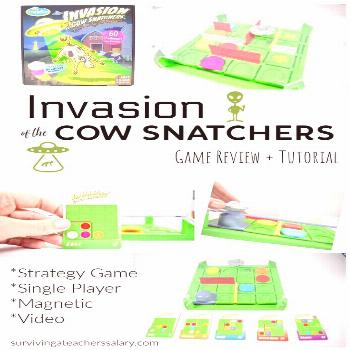 Strategy Game - Invasion of the Cow Snatchers This strategy game from ThinkFun, Invasion of the Cow