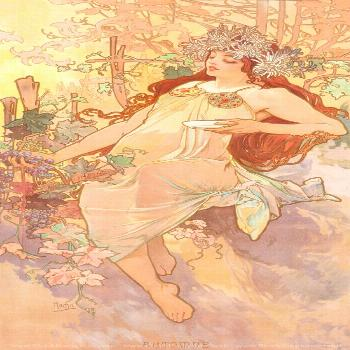 The Seasons Autumn by Alphonse Mucha Alphonse Mucha Art Nouveau French Illustrations and Paintings