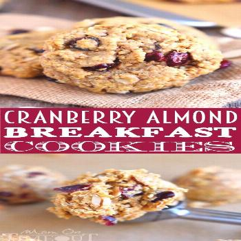 These Cranberry Almond Breakfast Cookies are the perfect grab-and-go breakfast for busy mornings! E