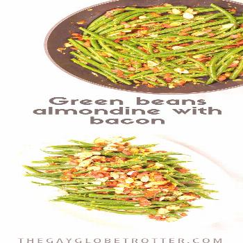 These fresh green beans almondine are the perfect side dish for a crowd! Green beans are sauteed wi