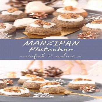 These marzipan cookies with cinnamon, almonds and nuts are really super tasty ... -  These marzipan