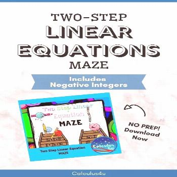 Two Step Linear Equation Maze Mazes are a fun way to keep kids practicing important math skills, al