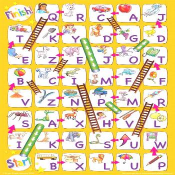 Uppercase Alphabet Chutes & Ladders Game | Super Simple