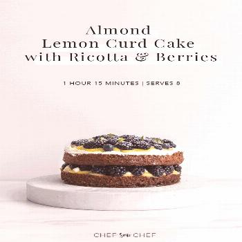 Using an almond olive oil cake base, each layer of our Almond Lemon Curd Cake has a burst of fresh