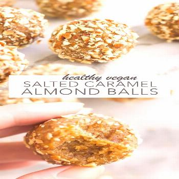 Vegan Salted Caramel Almond Balls - Amy Le Creations - -