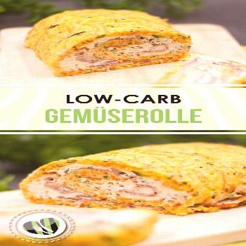Vegetable roll with herb curd filling - LCHF - Gluten Free - Low Carb -  The vegetable roll with he