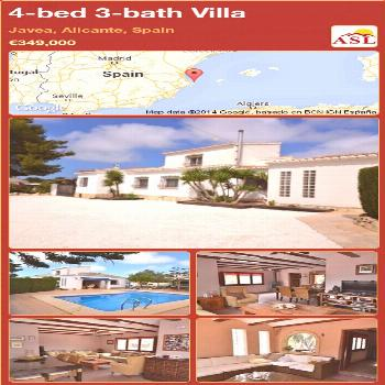 Villa for Sale in Javea Alicante Spain with 4 bedrooms 3 bathrooms  A Spanish Life  You are in the
