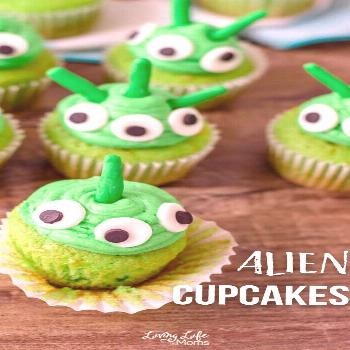 Wacky Alien Cupcakes Recipe Little green men from Mars? No, this wacky alien cupcakes recipe isn't