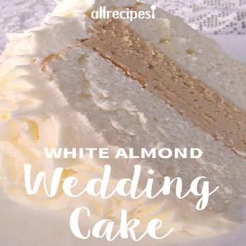White Almond Wedding Cake |