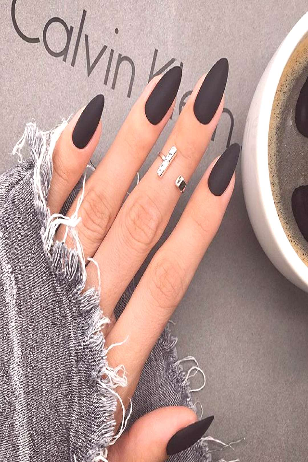 40+ Best Trendy Matte Black Nail Designs Black scrub nails are full of personality, can create a co
