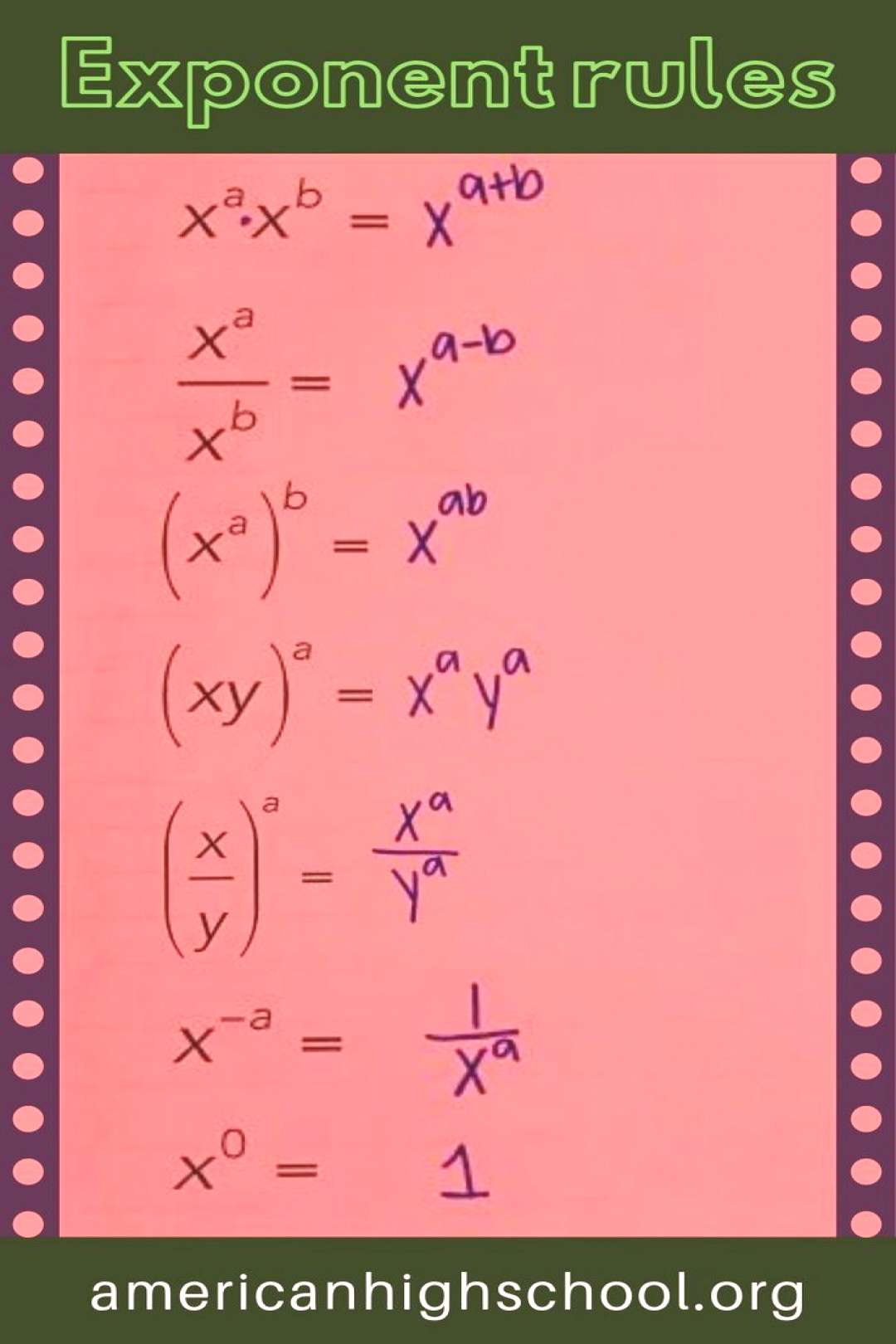 45+ Basic math tricks college list Exponent Rules. What are the main exponent rules?