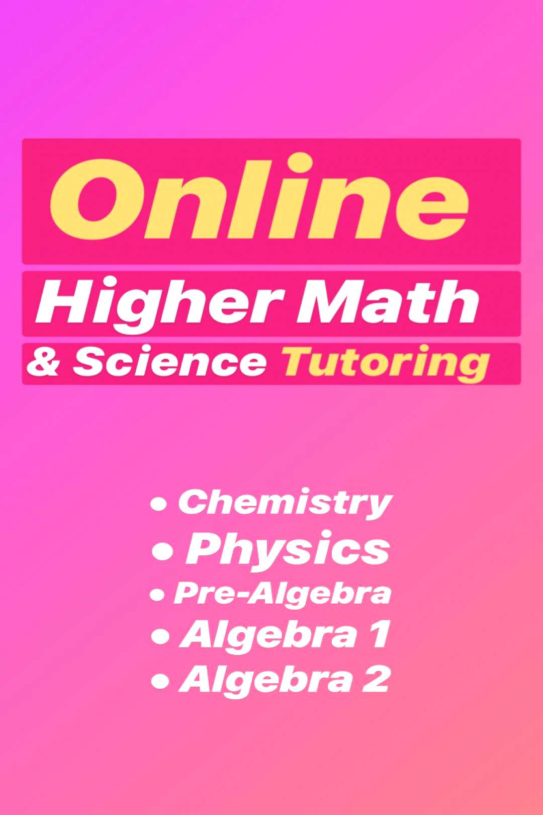 Activate Tutoring: Private Online Higher Math and Science Tutoring