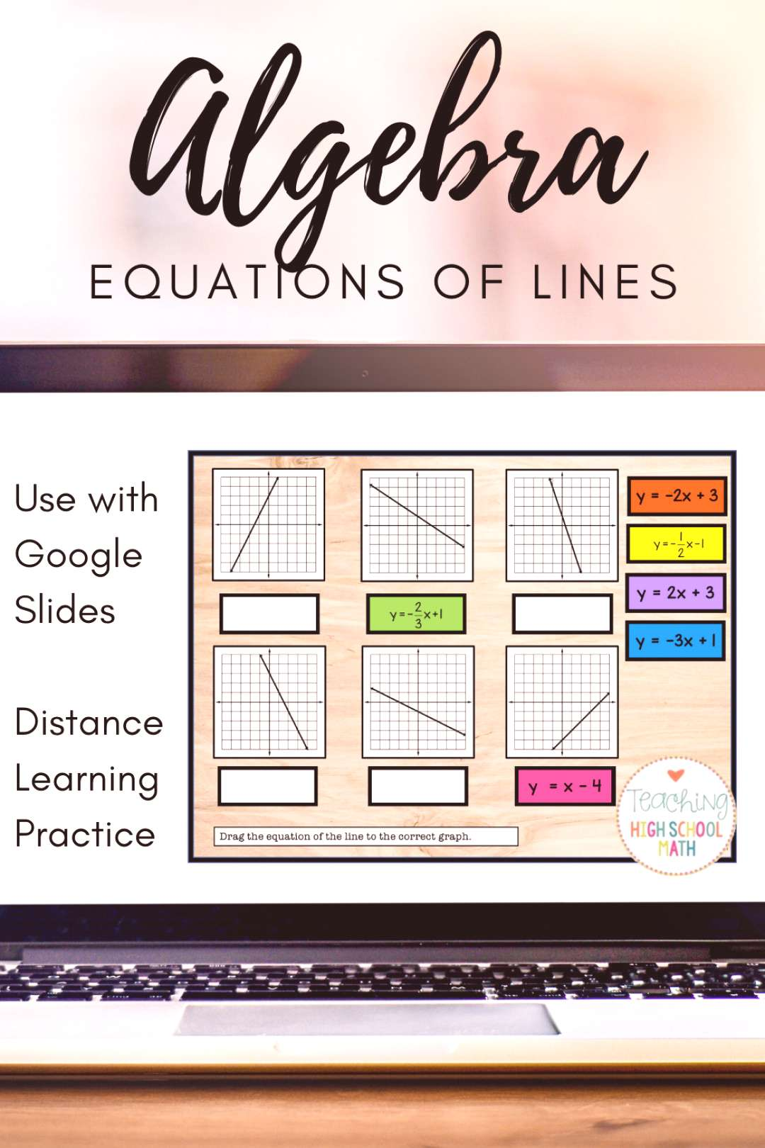 Algebra Writing Equations of Lines - Digital This set will help your students practice writing equa
