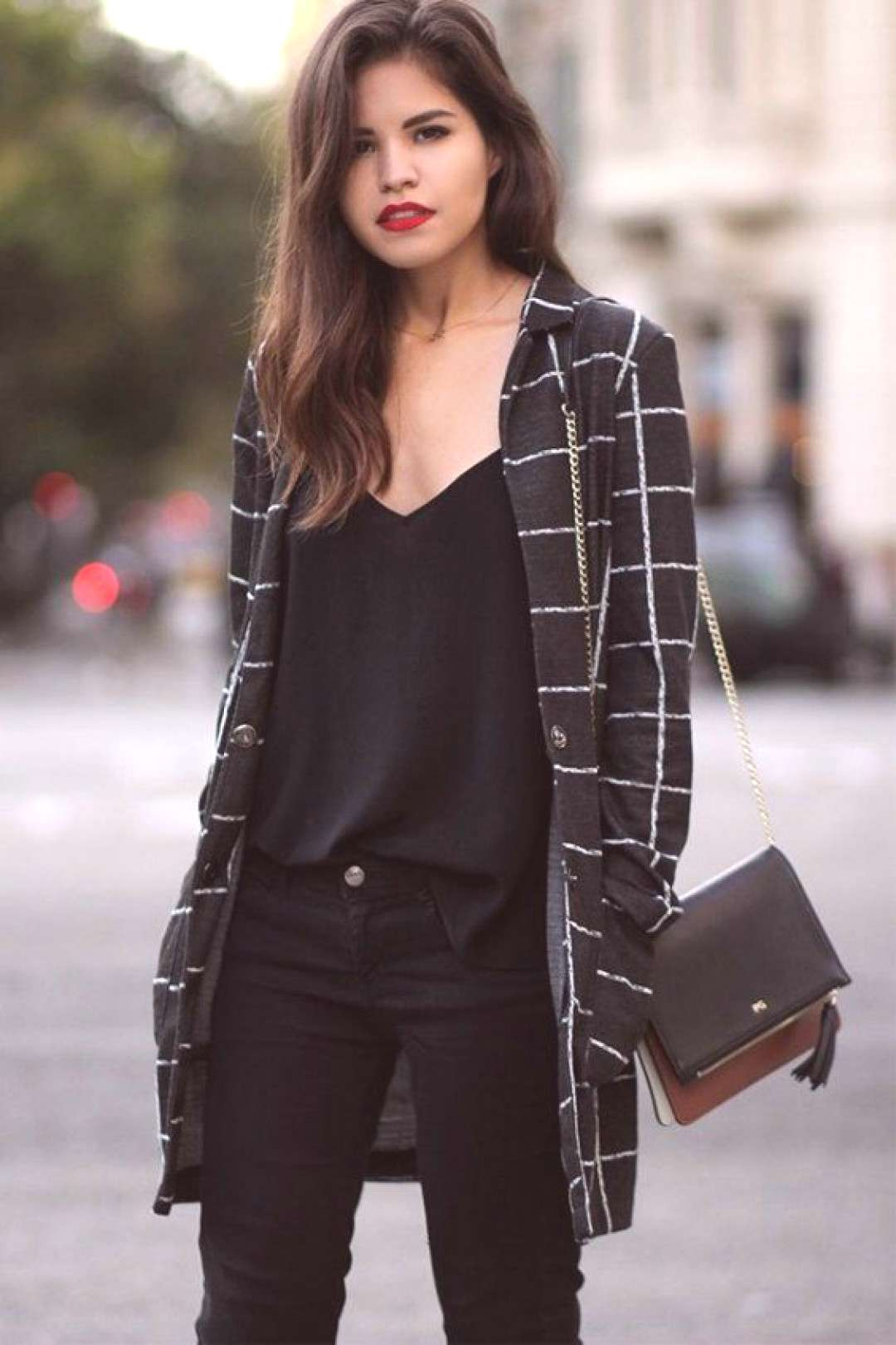 All black looks great but why not add a checked blazer for a touch of color for the office. | How t