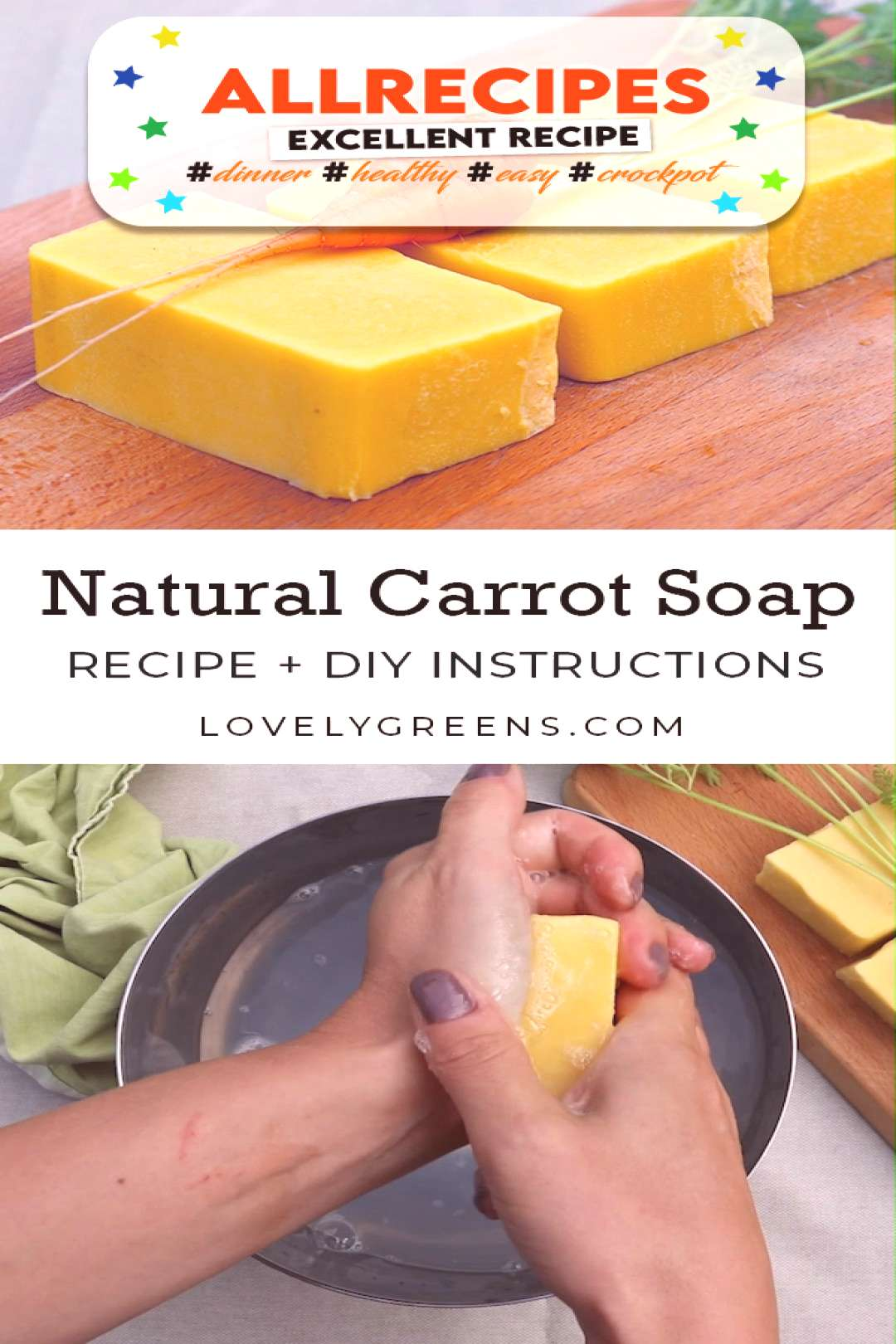 All Natural Carrot Soap Recipe with Real Carrots - - How to make natural carrot soap using the cold