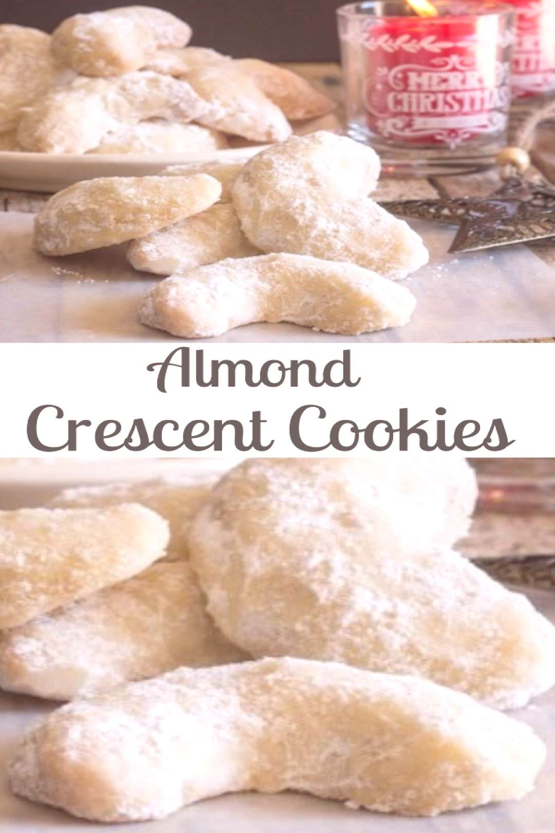Almond Crescent Cookies, almond, pecan or walnut these melt in your mouth Christmas Cookie Recipe a