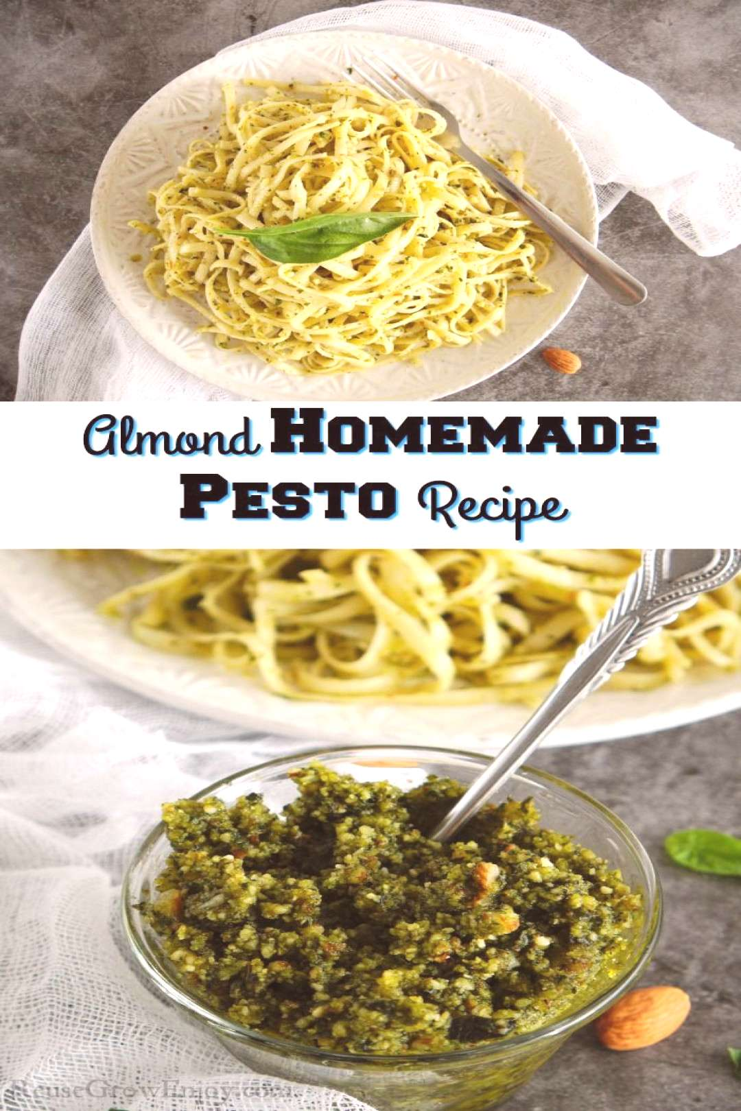 Almond Homemade Pesto Recipe Making this almond homemade pesto recipe is about as simple as it gets