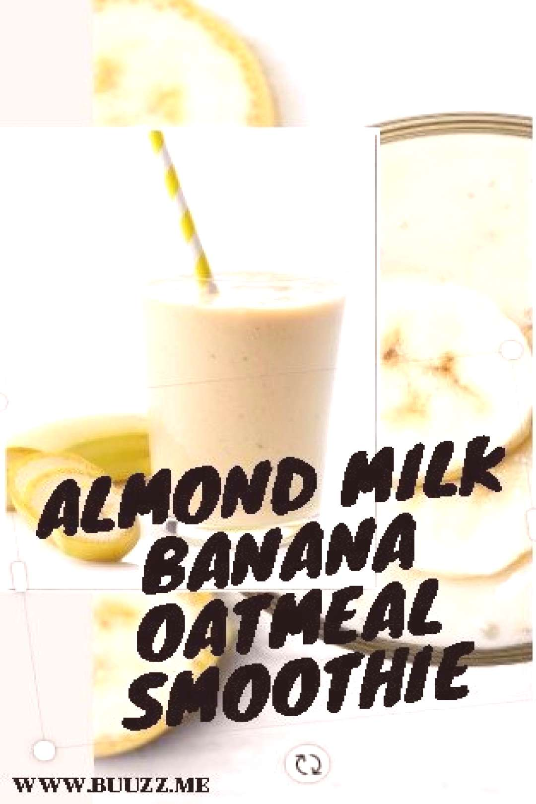 Almond Milk Banana Oatmeal Smoothie Make this banana oatmeal breakfast smoothie for weight loss wit