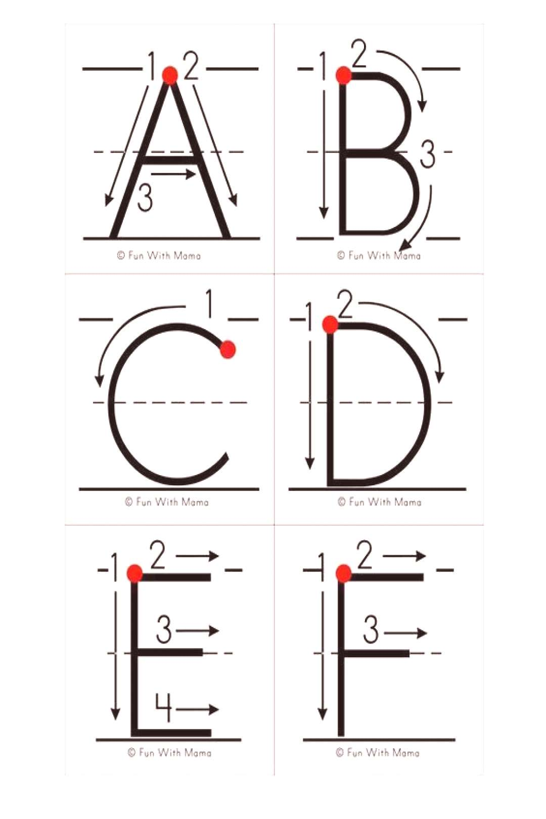 alphabet letter formation and writing practice cards These alphabet letter formation and writing pr