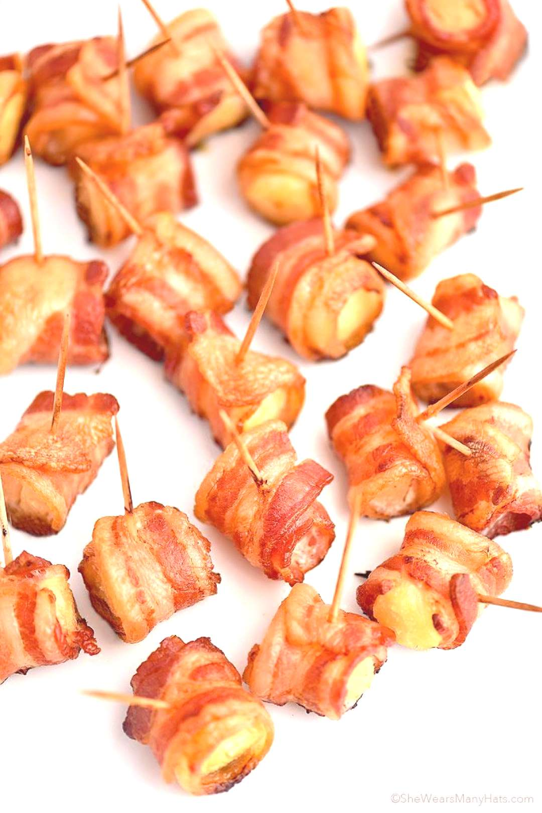 Bacon Wrapped Pineapple Bites Recipe | She Wears Many Hats -  Bacon Wrapped Pineapple Bites Recipe