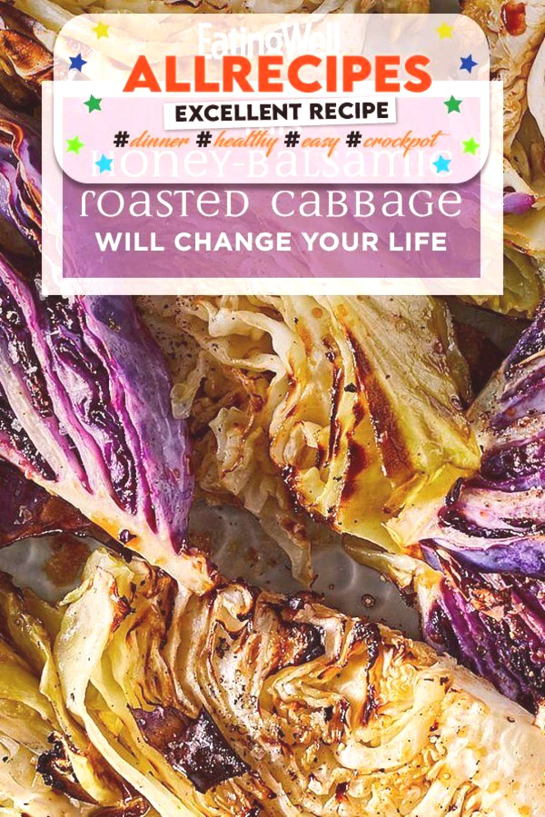 Balsamic Roasted Cabbage - - These roasted cabbage wedges with honey and balsamic vinegar make an a