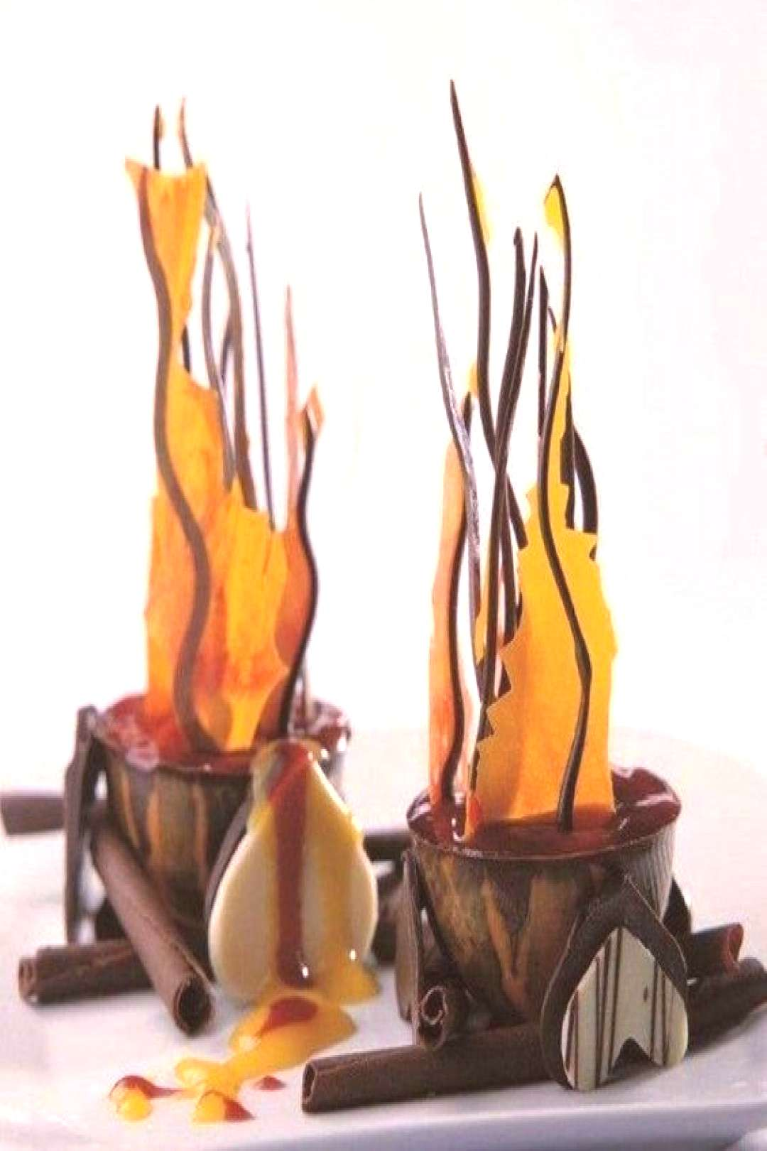 Beauty on plates -  Chocolate flames  -