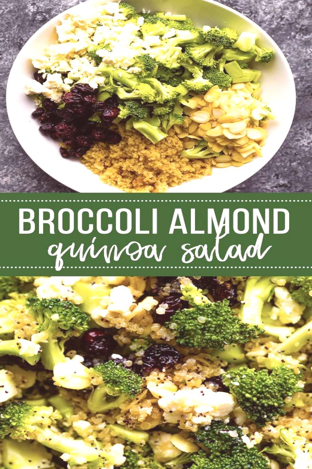 Broccoli Salad Recipe with Almonds and Quinoa,Broccoli salad recipe gets a healthy makeover w... Br