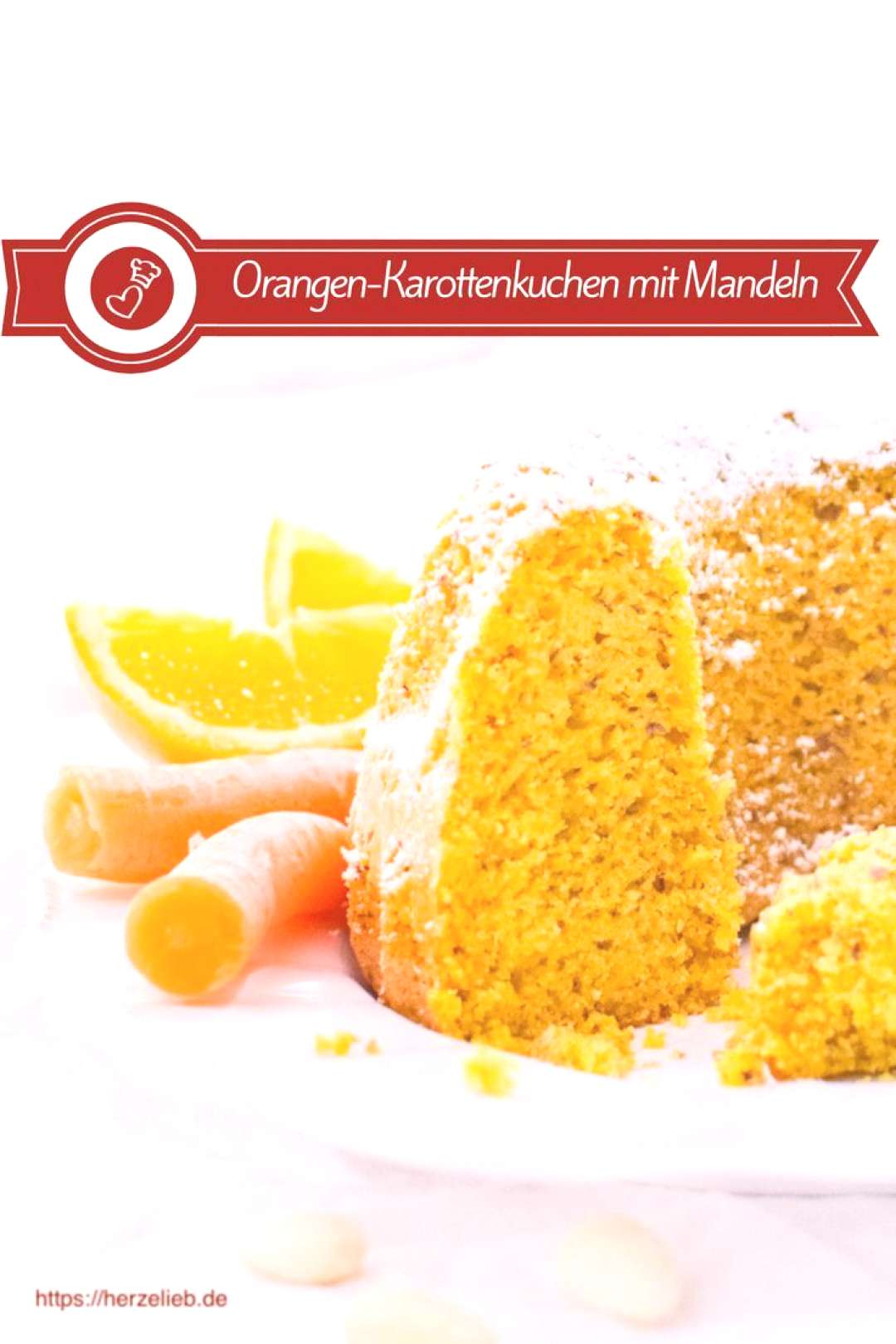 Cake recipes, orange recipes: Recipe for a super juicy carrot cake Gugelhupf from herzelieb. This G