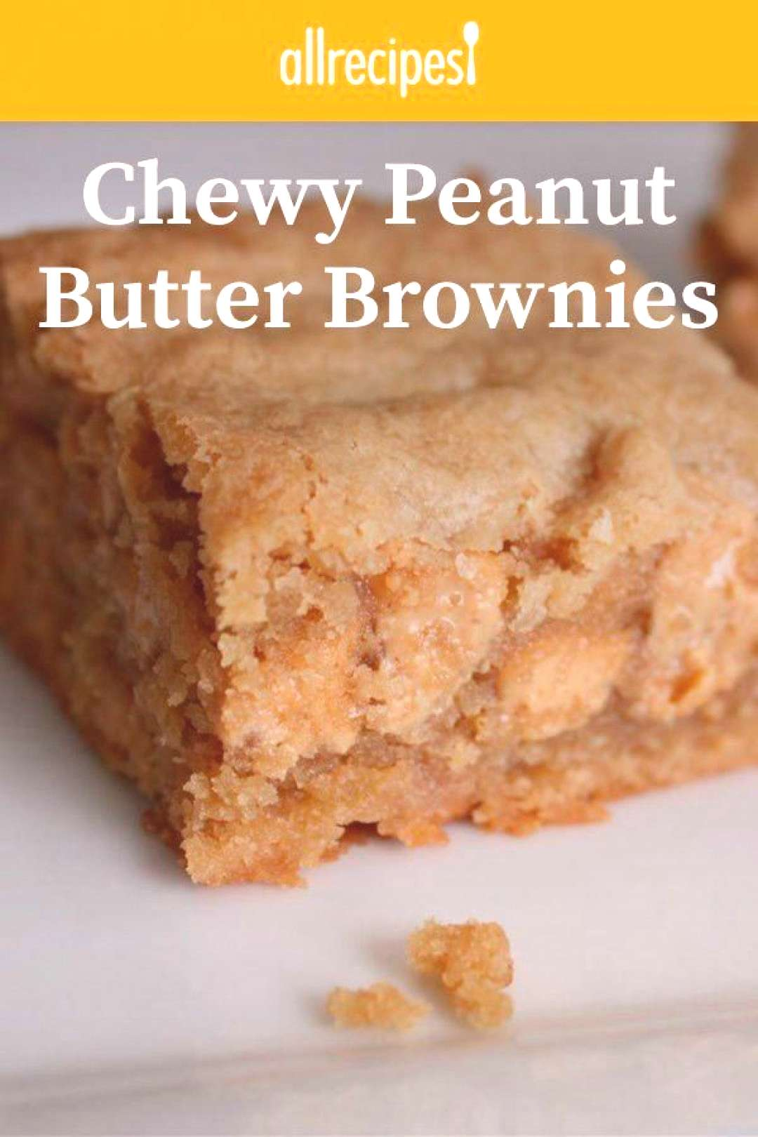 Chewy Peanut Butter Brownies |