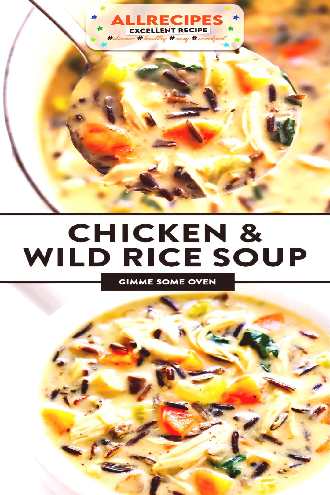 Chicken and Wild Rice Soup Recipe | Gimme Some Oven - - The BEST chicken and wild rice soup -- made
