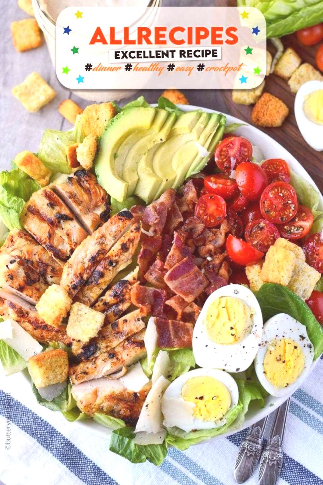 Chicken Avocado Caesar Salad Recipe-Butter Your Biscuit - - GRILLED CHICKEN AVOCADO CAESAR SALAD...