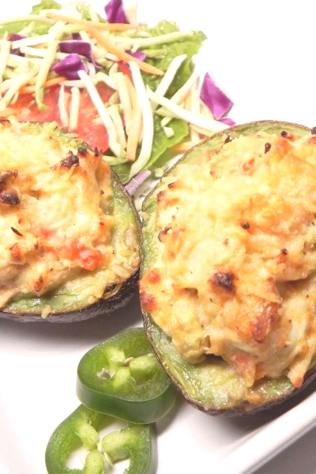 Chicken Stuffed Baked Avocados |