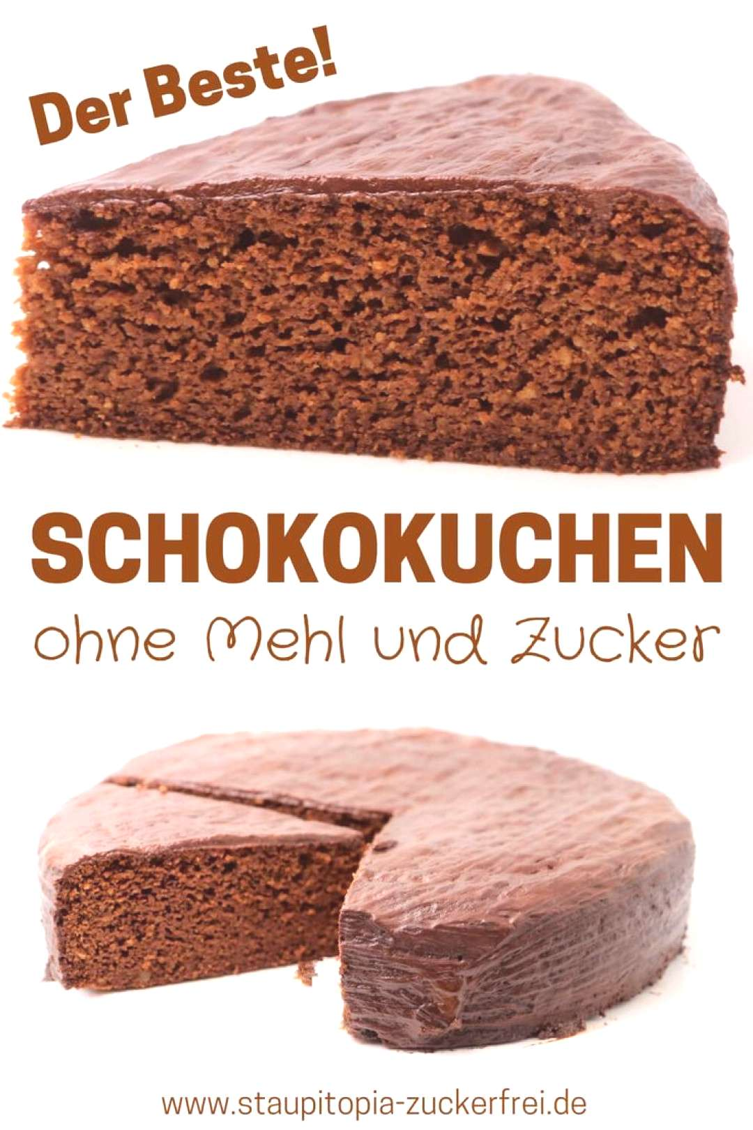 Chocolate cake without sugar and flour - Staupitopia sugar free -  Would you like to bake a chocola