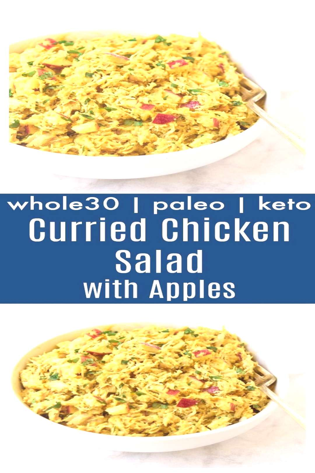 Curried Chicken Salad with Apples (Whole30 Paleo) - Chicken, apple, almonds, and...,Curried C... Cu