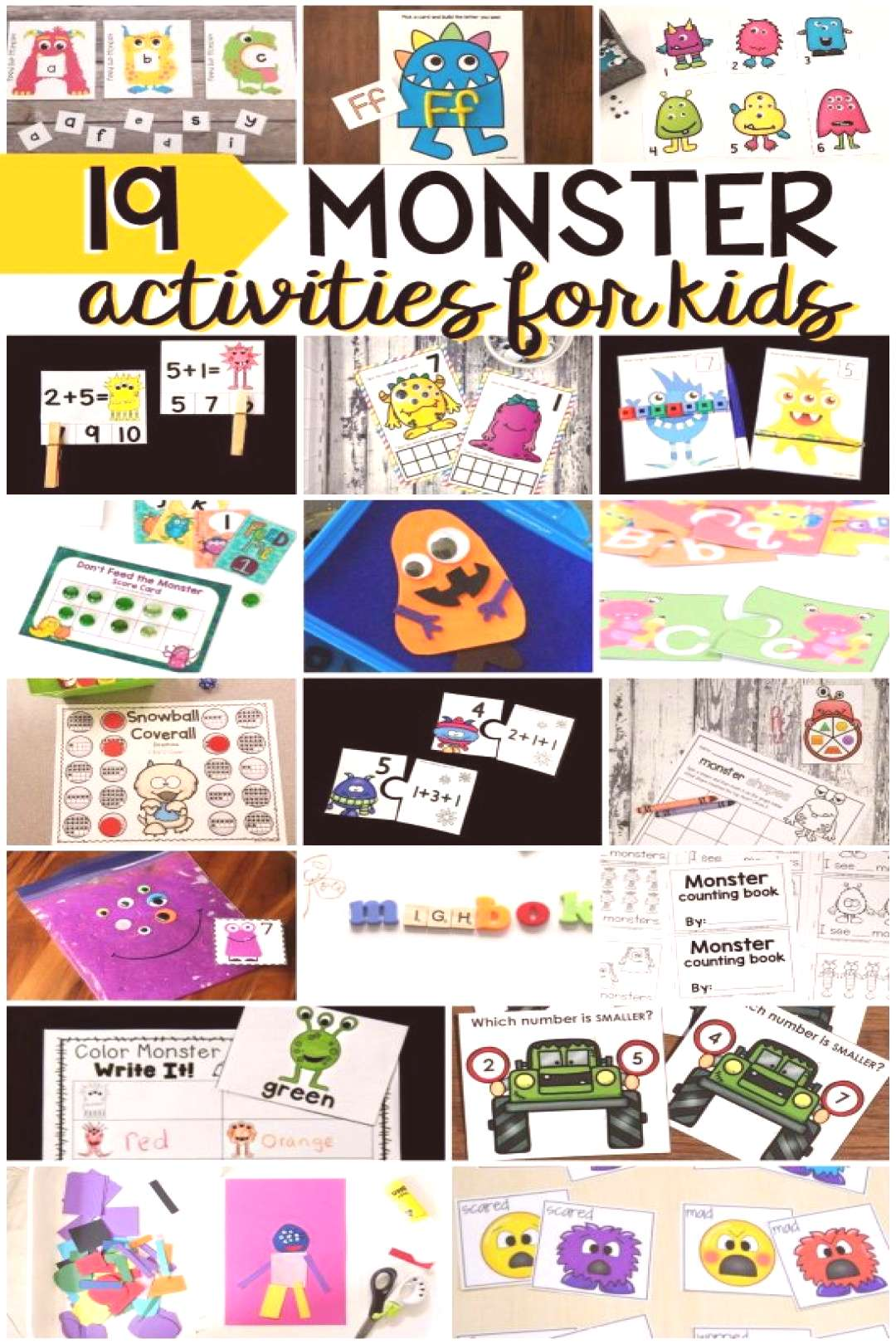 Don't Feed the Monster Alphabet Game - Stay At Home Educator
