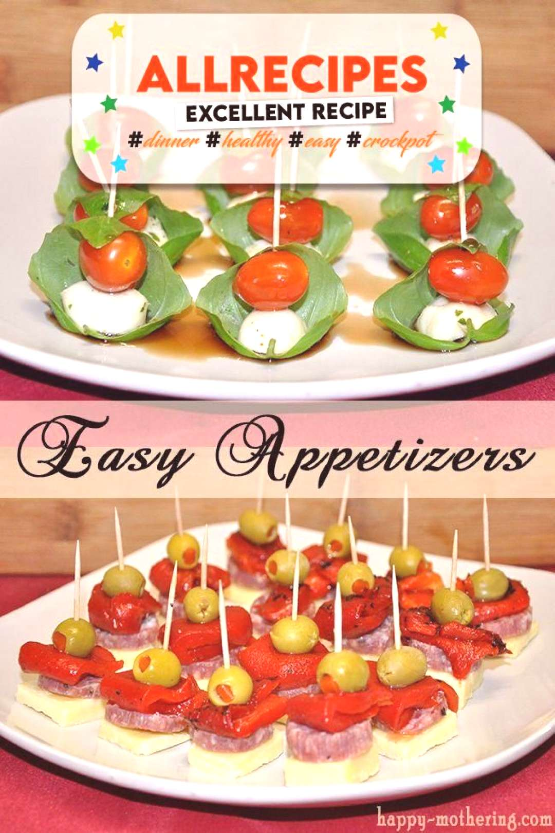 Easy Appetizers: Caprese and Antipasto Skewers - - easy-appetizers