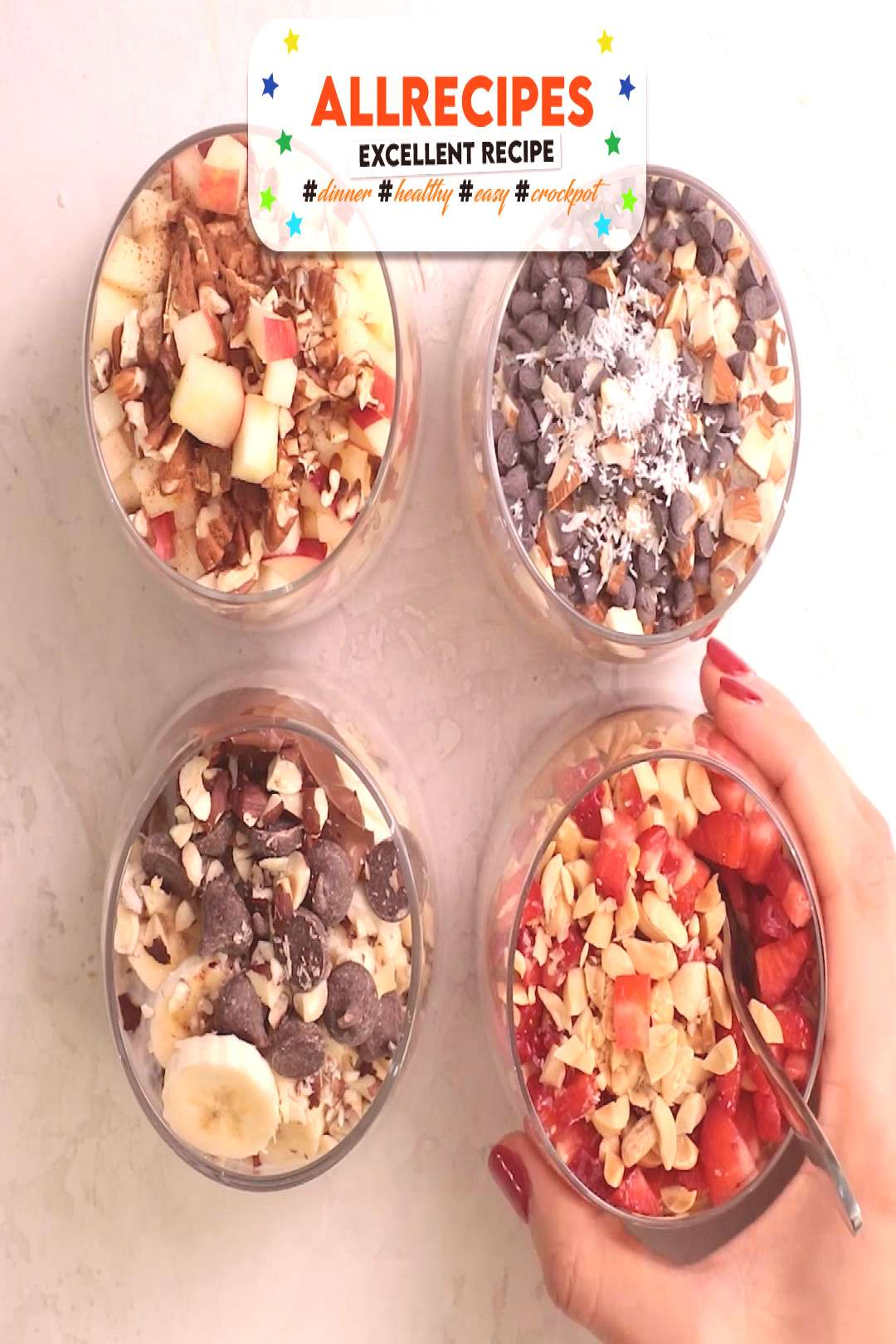 Easy Overnight Oats 4 Ways - Recipe Video - - This easy overnight oats recipe is a healthy simple b