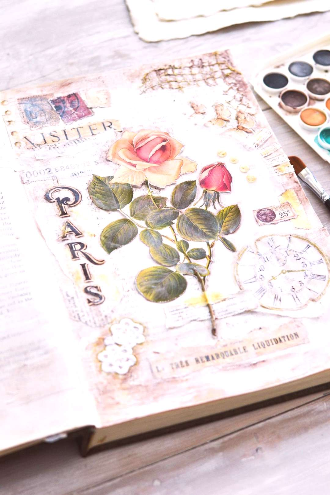Ever wanted to start a DIY French Altered Book Art Journal? Learn the basics on how to prepare the
