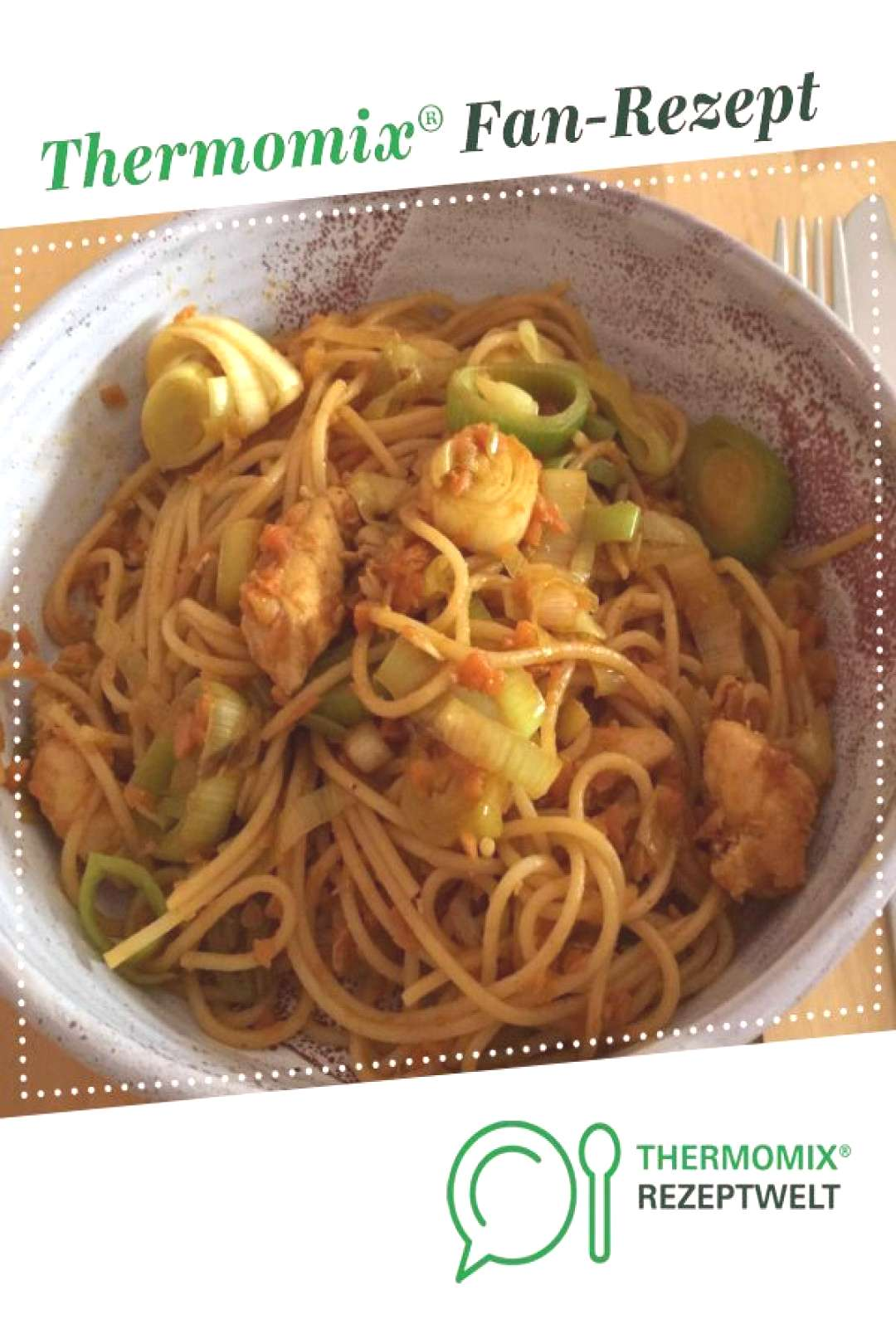 Fried noodles with chicken -  Fried noodles with chicken from Maschti. A Thermomix ®️️ recipe