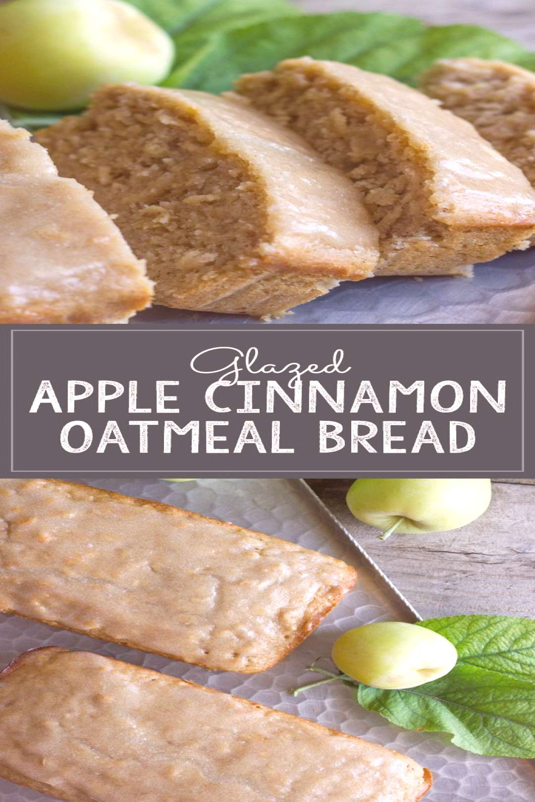 Glazed Apple Cinnamon Oatmeal Bread - Lovely Little Kitchen -  Soft and moist, and bursting with ap