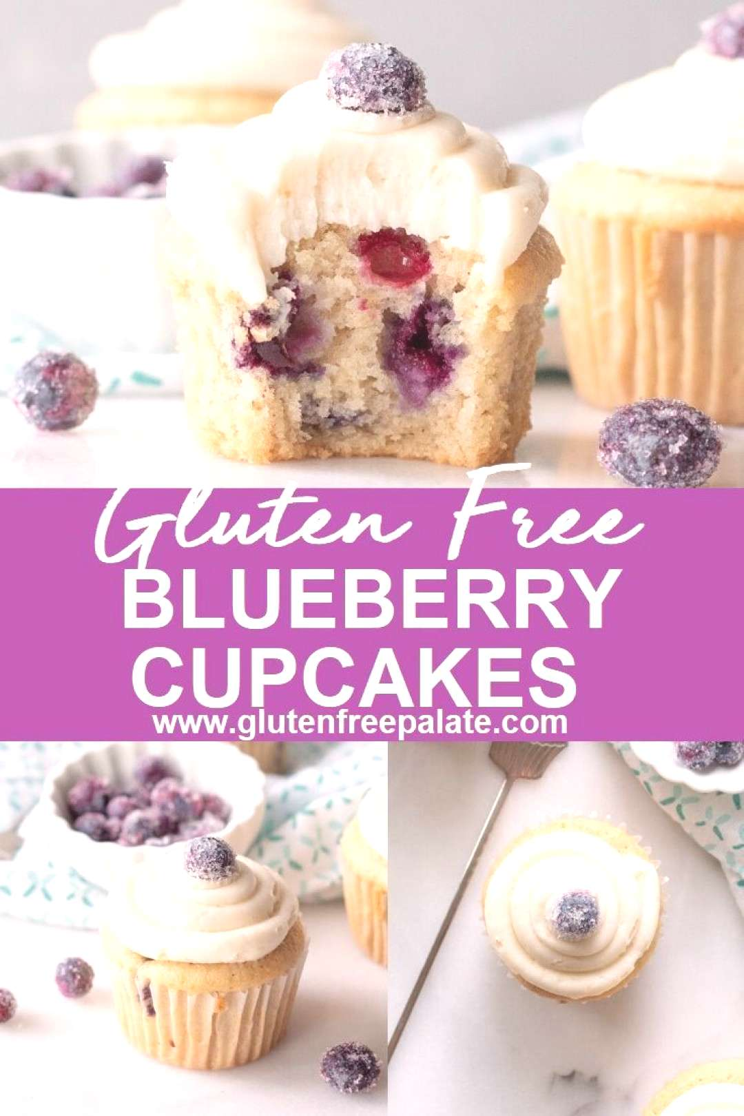 Gluten-Free Blueberry Cupcakes -   -