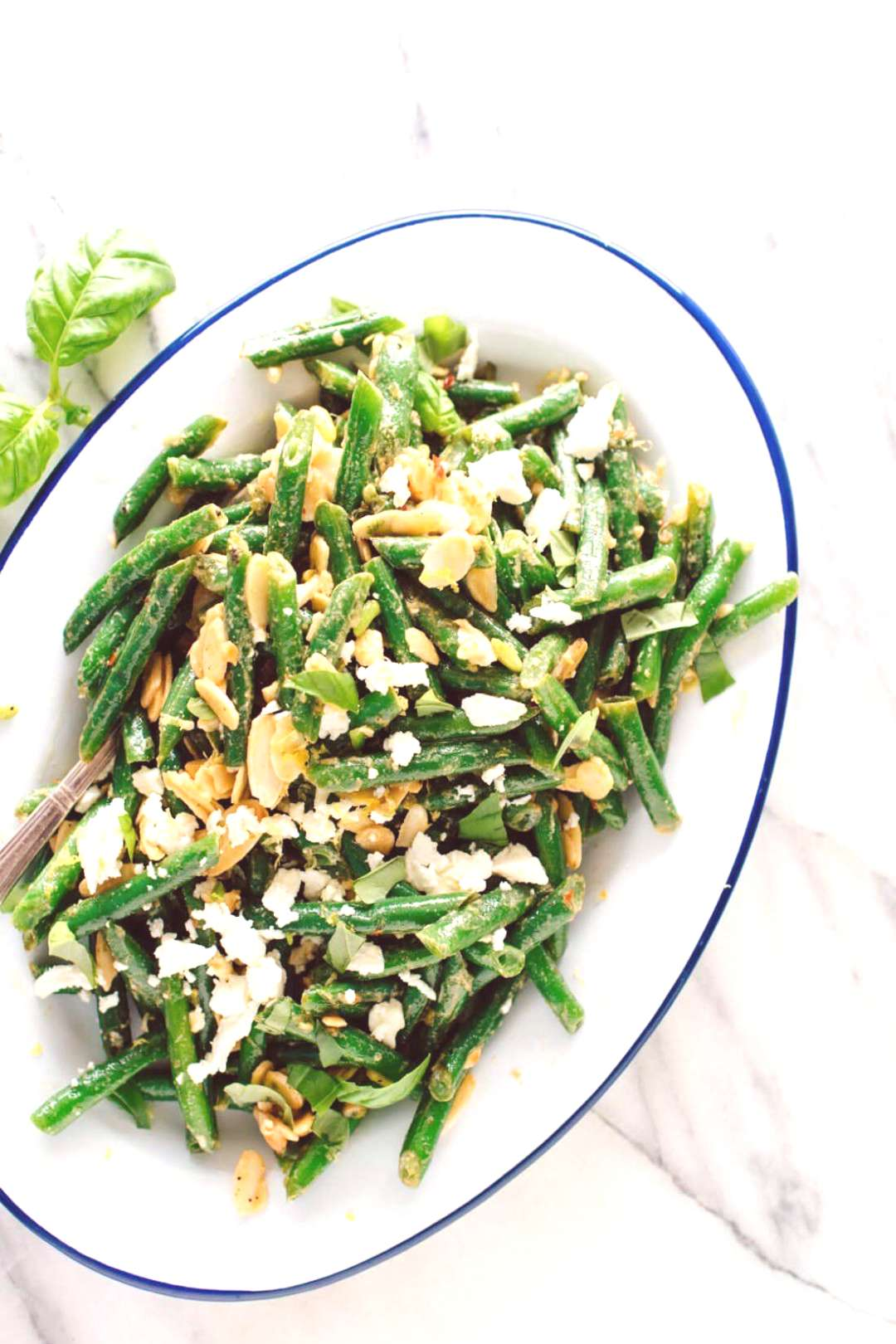 Green Bean Salad with Toasted Almonds & Feta - Cookie and Kate -