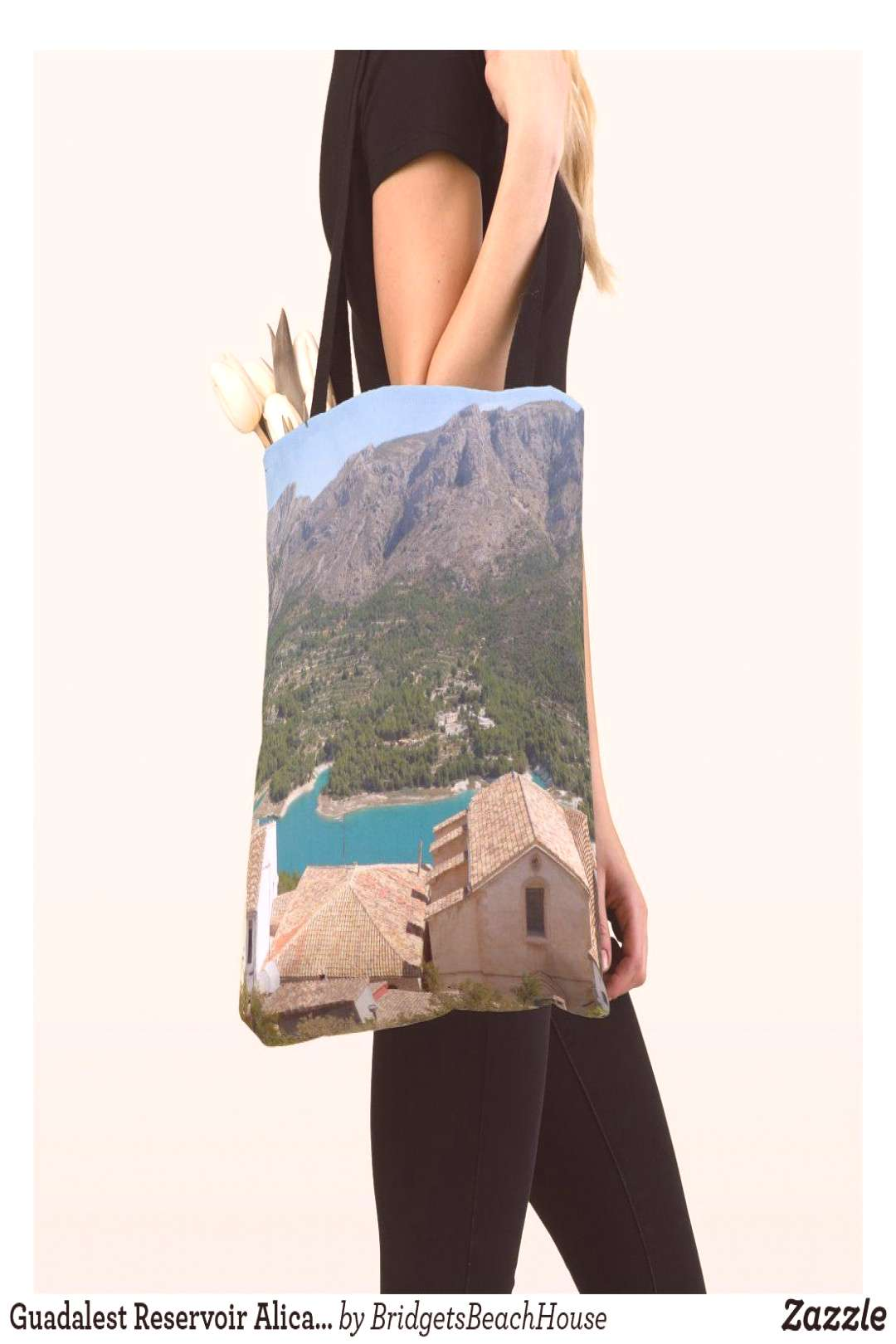 Guadalest Reservoir Alicante Spain Tote Bag