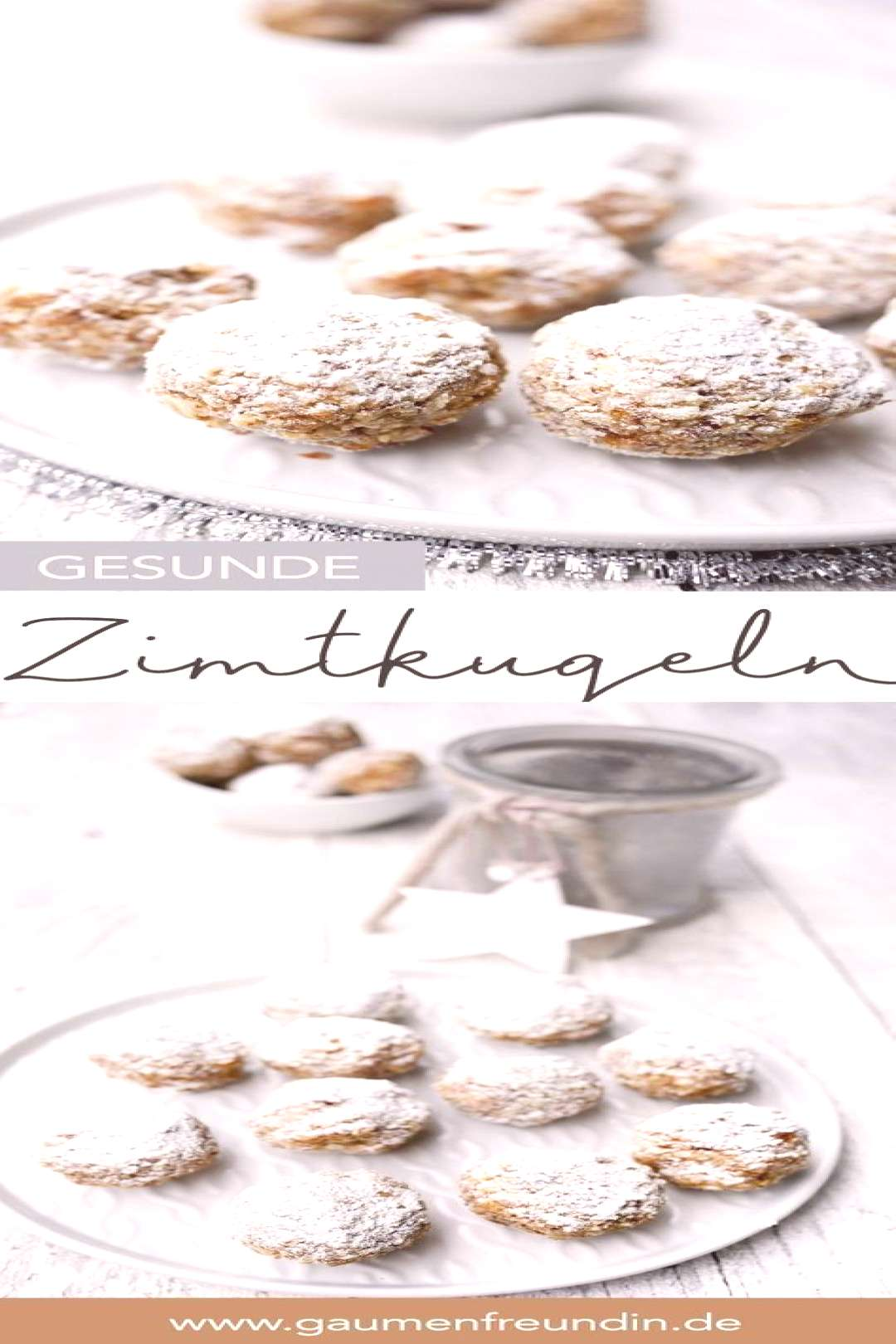 Healthy cinnamon balls with dates and almonds for the cookie plate - -