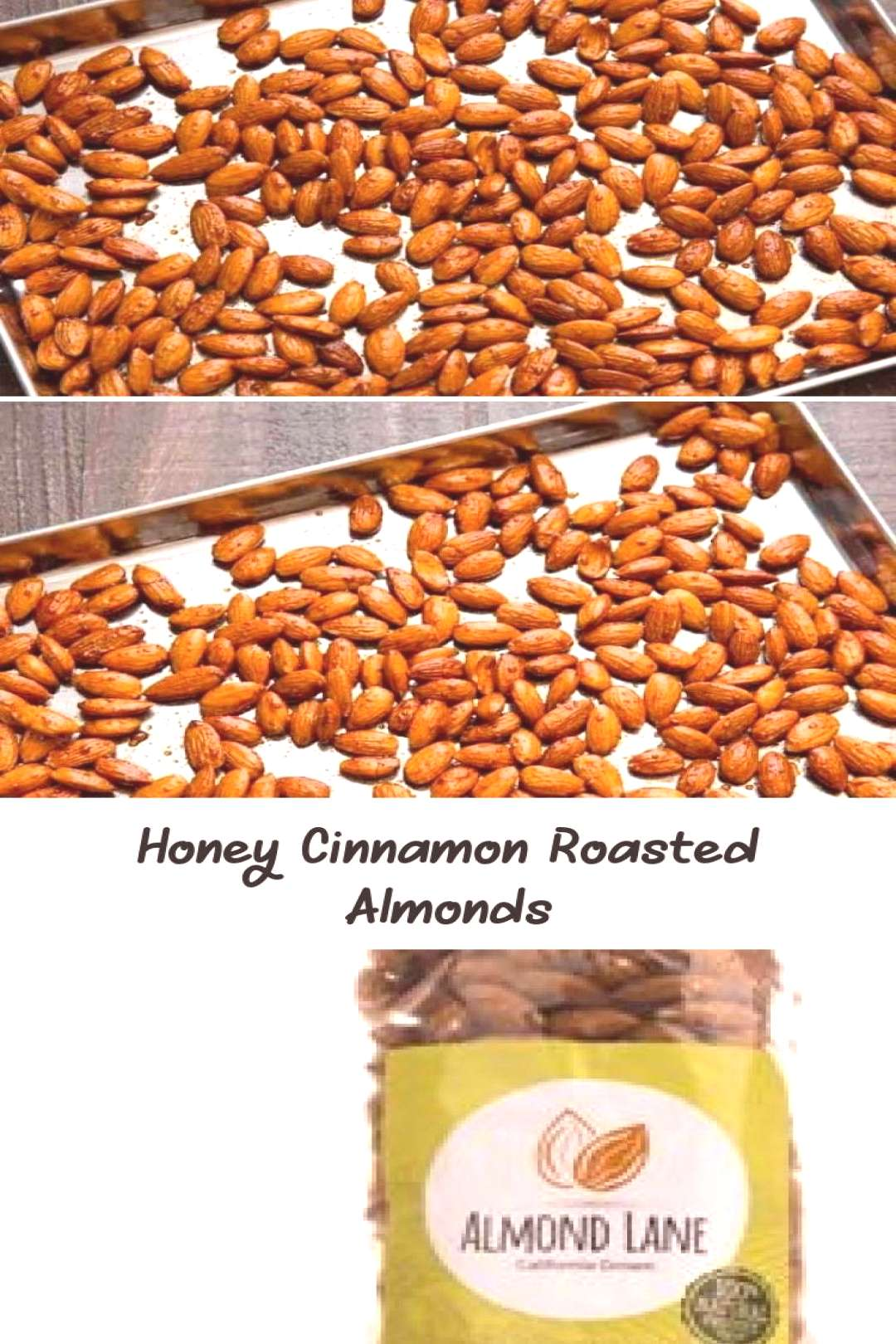 Honey and cinnamon roasted almonds are an easy healthy snack to make from plain almonds. Top them o