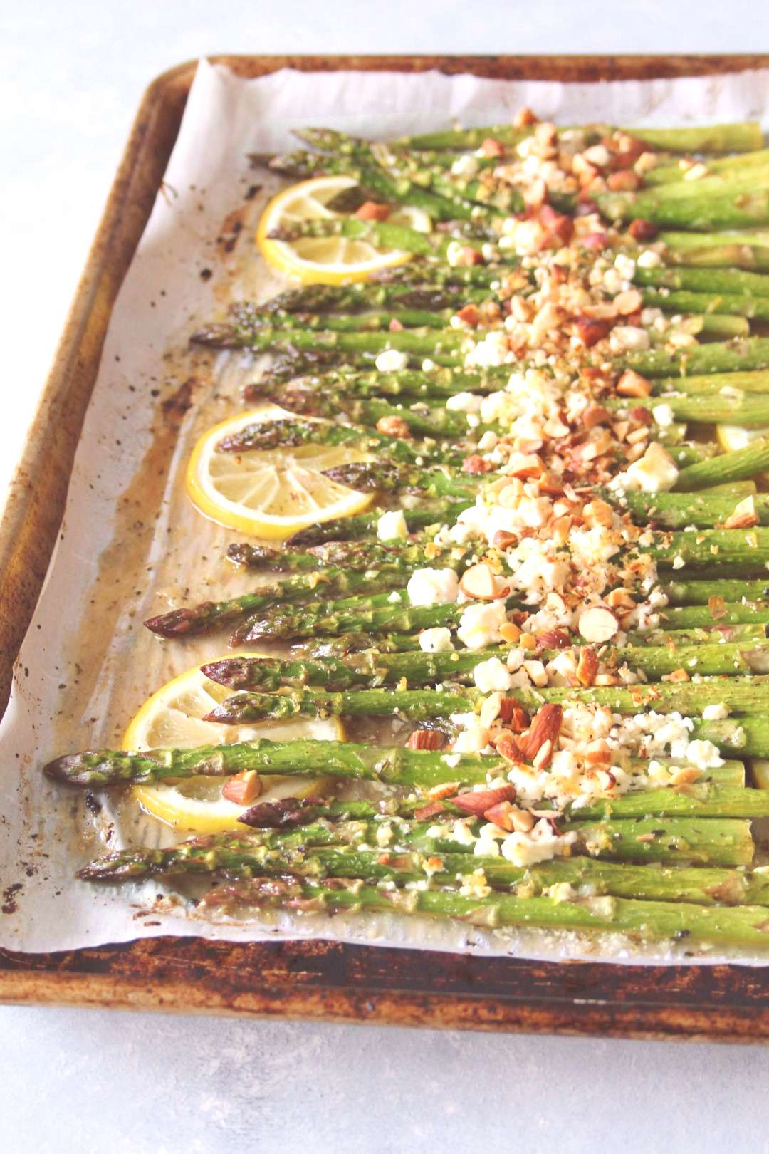 Honey-Lemon Roasted Asparagus with Feta -  Honey-Lemon Roasted Asparagus with Feta (No feta)  -