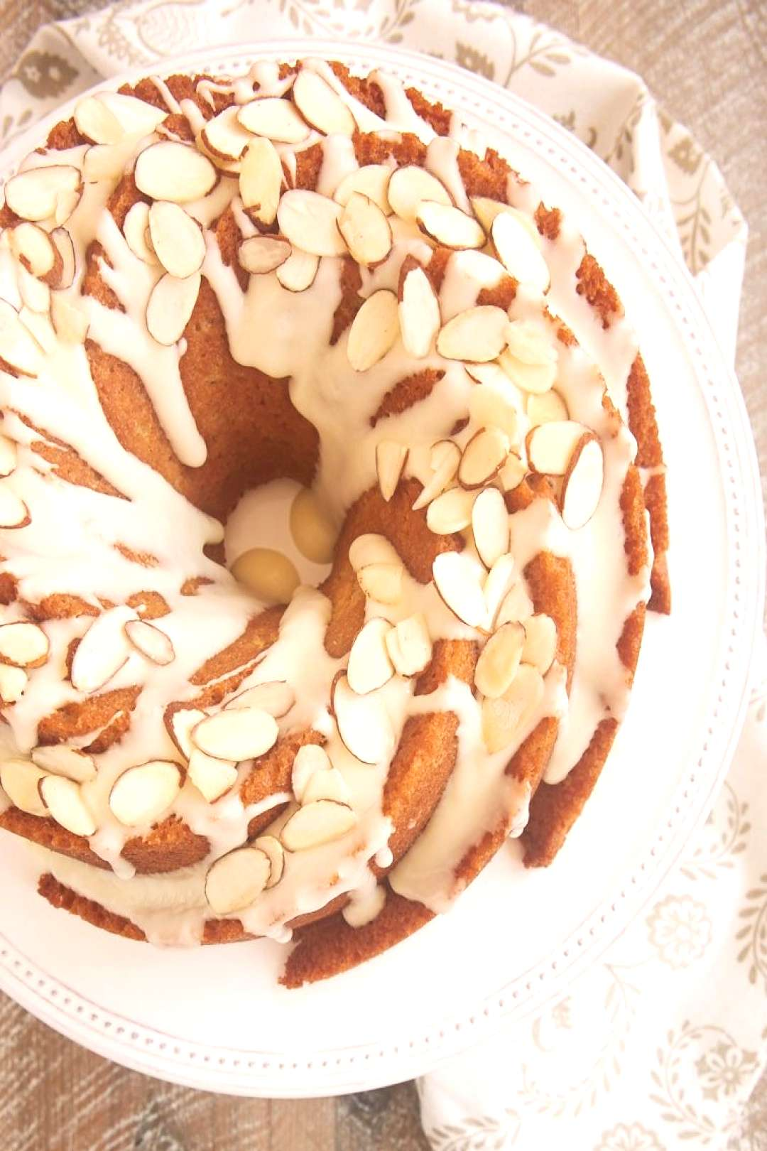 If you love almonds in a big way, you must try this fantastic Amaretto Almond Bundt Cake. Such a lo